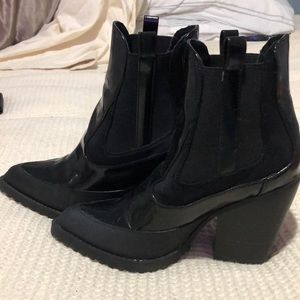 ASOS black booties